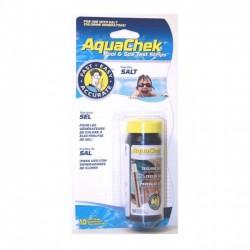 Bandelette d'analyse de piscine Aquacheck Blanc : sel